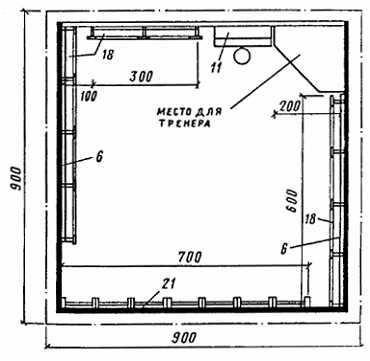 Схема плана помещения размером